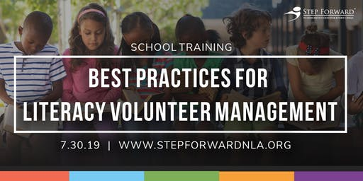 School Training: Best Practices for Literacy Volunteer Management