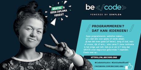 Infosessie BeCode @ Gent tickets