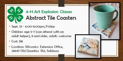 4-H ART Explosion  Class - Abstract Tile Coasters
