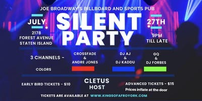 STATEN ISLAND SILENT DISCO HEADPHONE PARTY