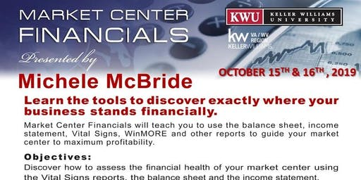 MARKET CENTER FINANCIALS with MICHELE McBRIDE - OCT 15th & 16th, 2019 (General)