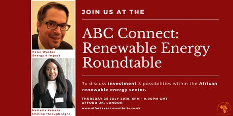 ABC Connect: Africa Renewable Energy Roundtable tickets