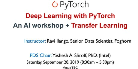 Deep Learning with PyTorch and Transfer Learning - AI Workshop - by SFBay ACM tickets