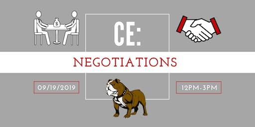 CE: Negotiations