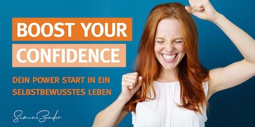 BOOST YOUR CONFIDENCE. Dein Power Start in ein Selbstbewusstes Leben.