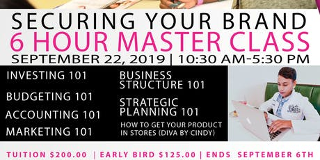 Secure Your Brand 6 Hour Master Class  tickets