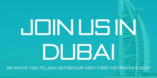 Crypster Inaugural Event, Dubai 2019