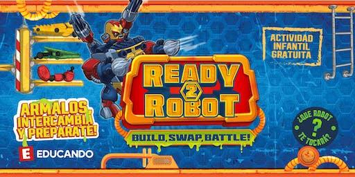 Ready2Robots, ¡Armá, intercambiá y prepararte! en Jugueterías Educando