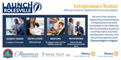LaunchROLESVILLE Info Session for Entrepreneurs and Small Business Owners