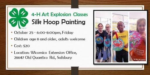 4-H ART Explosion  Class - Silk Hoop Painting