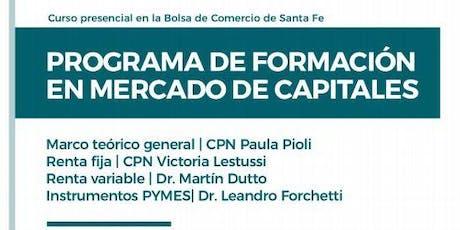 Curso: Programa de Formación en Mercado de Capitales entradas