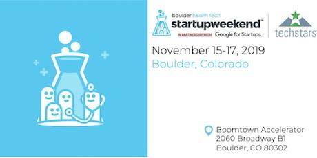 Boulder Health Tech Startup Weekend tickets
