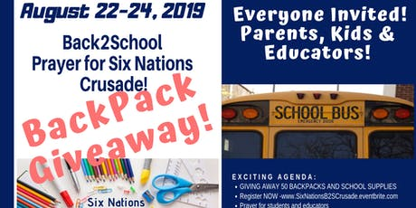 SIX NATIONS BACK PACK GIVEAWAY tickets