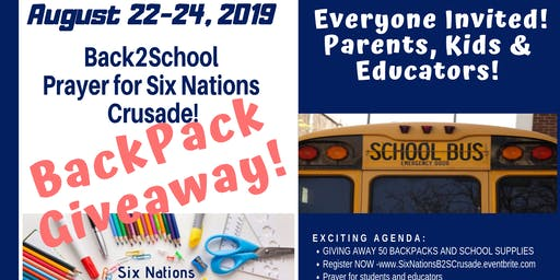 SIX NATIONS BACK PACK GIVEAWAY