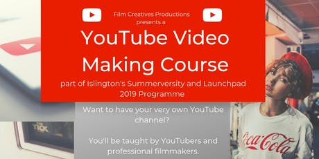 Youtube Video Making Course with Summerversity ( 3 days) tickets