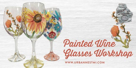 Painted Wine Glass Workshop tickets