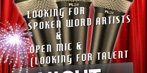 SPOKEN WORD, OPEN MIC LOOKING FOR TALENT FOR CENTER CITY EVENT
