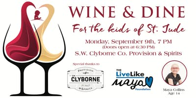 Wine and Dine Night for the Kids of St. Jude