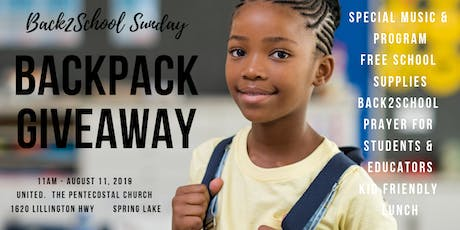 Back2School Prayer and Backpack Giveaway tickets