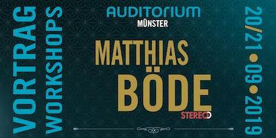 Matthias Böde im AUDITORIUM Münster – Vortrag