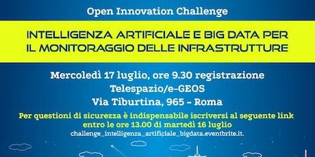 Challenge Intelligenza Artificiale e Big Data per il monitoraggio della Infrastrutture biglietti