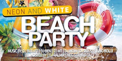 Labor Day Neon and White Beach Party
