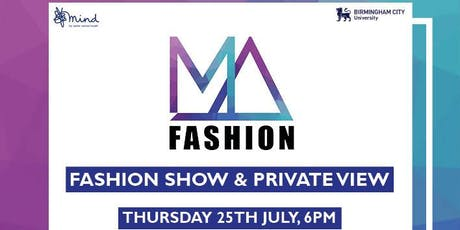 MA Fashion Show tickets