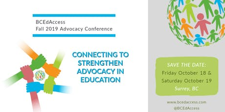 BCEdAccess FALL Advocacy Conference - Connecting to Strengthen Advocacy in Education tickets
