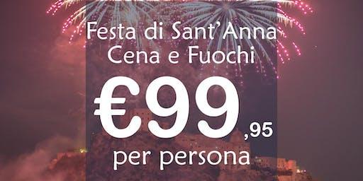 Festa di Sant'Anna ad Ischia: Cena e Fuochi
