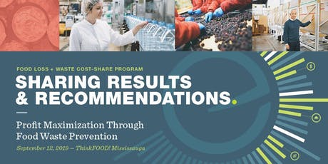 Food Loss + Waste Program: Sharing Results & Recommendations  tickets