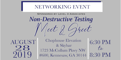 Level 3 Associates:Non- Destructive Testing Meet & Greet - Networking Event