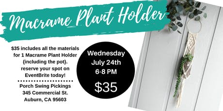 Macrame Plant Holder tickets