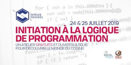 Initiation à la logique de programmation @ Sirius SCHOOL billets