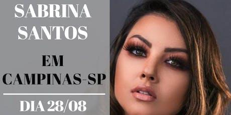 Masterclass com Sabrina Santos ingressos