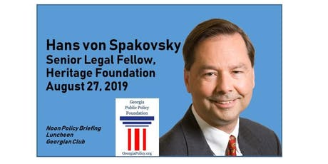 August 27 Policy Briefing Luncheon: 'Election Integrity' with Hans von Spakovsky tickets
