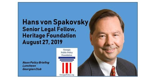 August 27 Policy Briefing Luncheon: 'Election Integrity' with Hans von Spakovsky