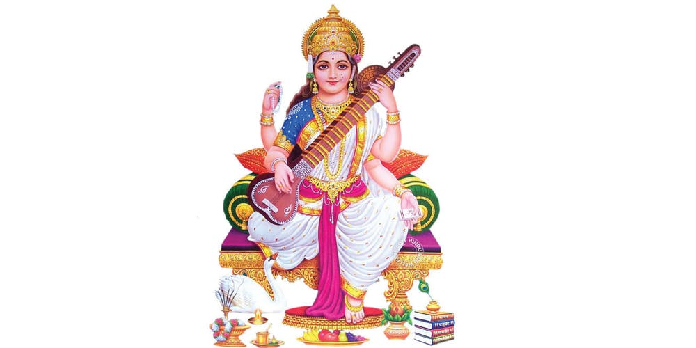 Image result for Saraswati Pooja for and by kids castro valley ca