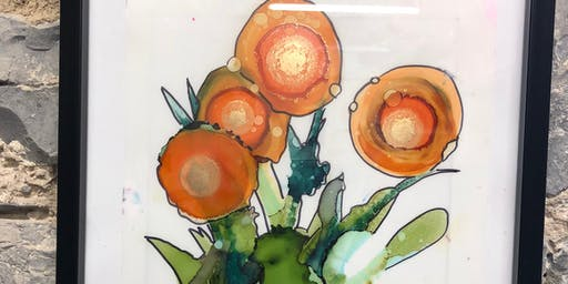 Alcohol Ink Floral Workshop at the Tett