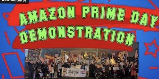 Amazon Protest minibus From Shrewsbury/Telford