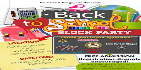 Back to School Block Party (Backpack & Supply Giveaway, PLUS MORE)! tickets