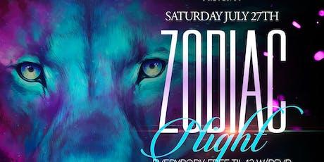 Zodiac night at Lit Lounge! All Leos free! Leo celebration tickets