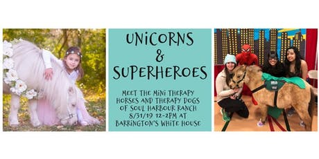 Unicorns & SuperHeroes: Mini Therapy Horses & Therapy Dogs tickets