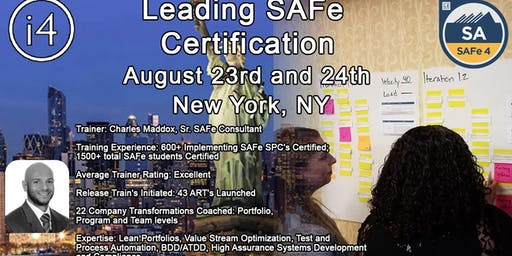 Leading SAFe 4.6 Certification Course -4.6- NYC