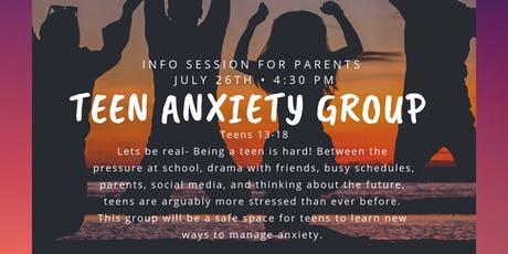 Teen Anxiety Group (Info Session) tickets