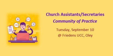 Church Assistant/Secretary Community of Practice tickets