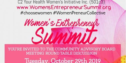 Women's Entrepreneur Summit Community Advisory Board Meeting - Oct. 29