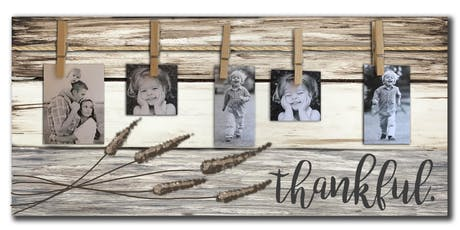 Thankful Photo Pallet Sign Art Paint Maker Party Sip & Create Class tickets