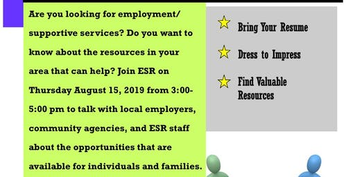 ESR's Job and Resource Fair
