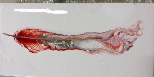 Liquid Glass Feather; Pouring Medium Workshop at the Tett