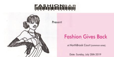 FASHION GIVES BACK!  Fashion Show at NorthBrook Court Shopping Mall presented by FashionBar!  tickets